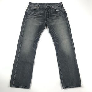 Levi's 501 Mens Straight Leg Button Fly Jeans
